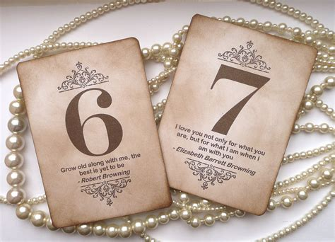 table numbers wedding wedding table numbers vintage charm with quotes all by amaretto