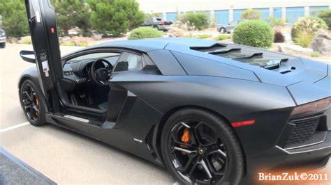 Matte Black Lamborghini Aventador LP700 4   YouTube