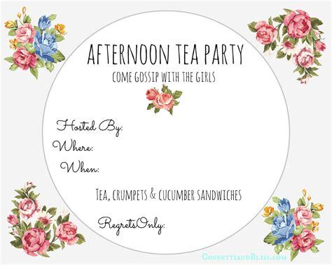 tea party photo invitations customize 128 tea party invitation