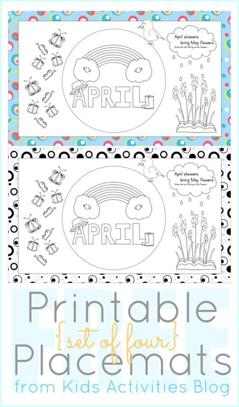 printable placemat free coloring pages