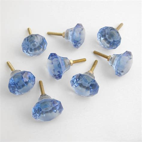 glass cabinet knobs and pulls set 8 blue glass drawer pulls knobs handles pull drawer knob