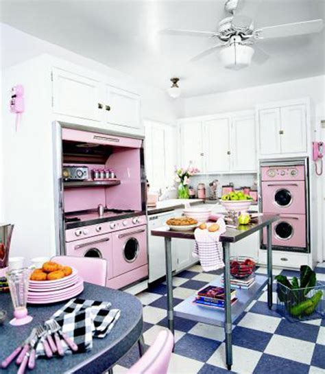 vintage decorating ideas for kitchens pink retro kitchen decorating ideas vintage kitchen decor