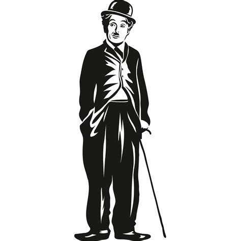 Dining Room Wall Quotes charlie chaplin stood with cane wall sticker world of