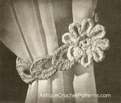 how to make flower curtain tie backs crochet home decor pattern flower curtain tie back