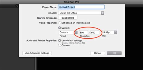 ratio design instagram how to start a new final cut pro project for instagram