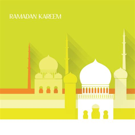 design masjid vector free download creative islamic mosque vector background material 01