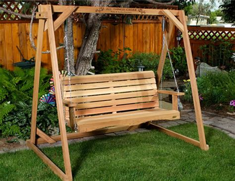 garden swing frame cedar garden a frame swing set by all things cedar