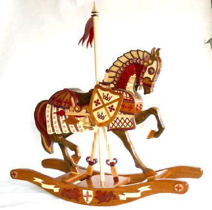 armor horse woodworking plan wood work rocking horse