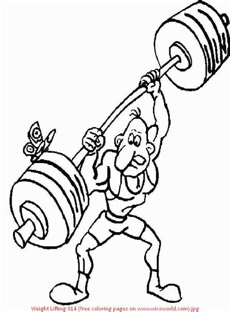 weightlifting printable coloring pages
