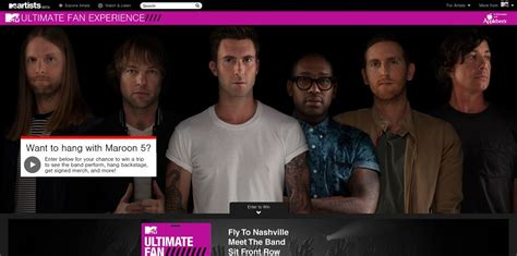 Mtv Sweepstakes - mtv ultimate fan sweepstakes want to hang with maroon 5