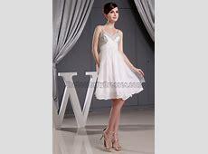 Beaded Short White Chiffon Party Dress Cocktail Homecoming ... Jennifer Lopez Wedding Dresses