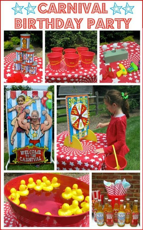 carnival themed games a carnival circus themed birthday party birthdays
