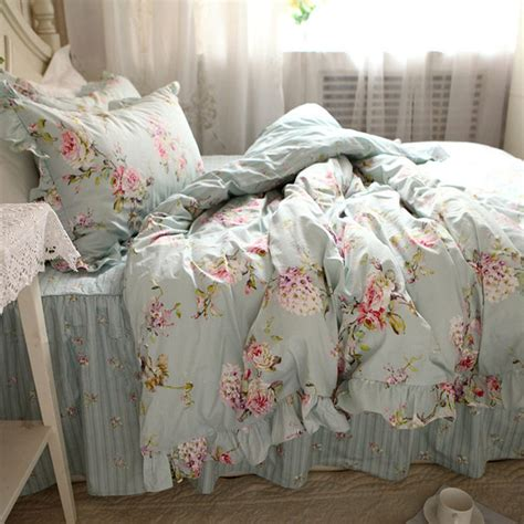 New European Flower Print Bedding Set Rustic Duvet Cover European Bedding Sets