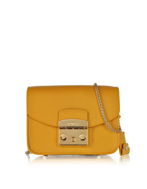 Furla Metropolis Mini Crosbody Include Box furla metropolis girasole leather mini crossbody bag in