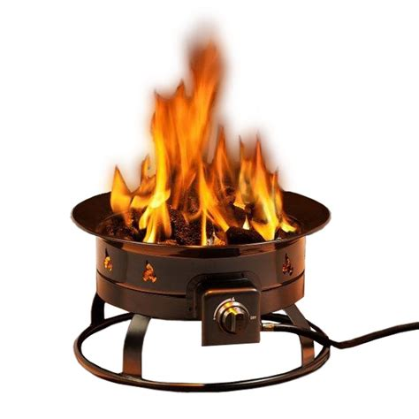 Smokeless 58000 btu propane fire pit portable for outdoor patio and camping ebay