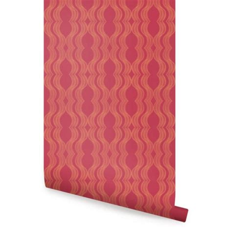 red peel and stick wallpaper wave red orange peel and stick fabric wallpaper
