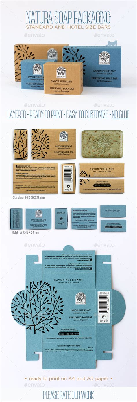 Natura Soap Packaging By Cultcat Graphicriver Soap Box Packaging Template