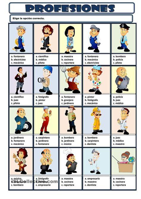 imagenes de profesiones en ingles y español 47 mejores im 225 genes de vocabulario profesiones en