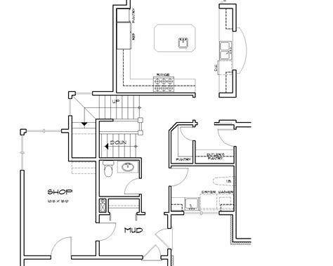 stairs in floor plan groveland 2716 3 bedrooms and 3 baths the house designers