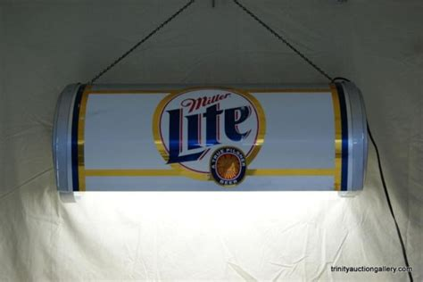 miller lite pool table light miller lite overhead pool table light