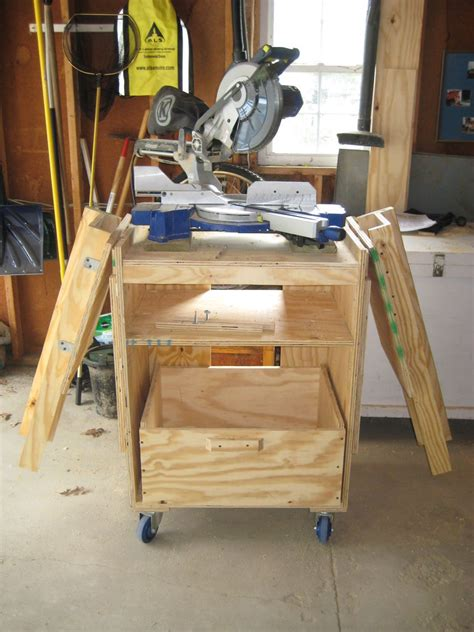 miter bench miter saw station rolling table woodworking and wood