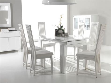 White Chairs Dining Room Contemporary Furniture For The Dining Room Modern Dining Room Furniture