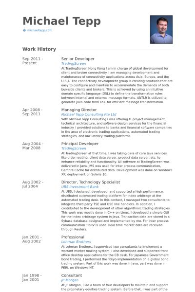 senior developer resume sles visualcv resume sles database
