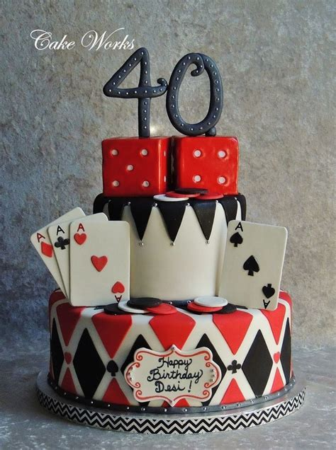 card themed decorations best 25 casino cakes ideas on cake