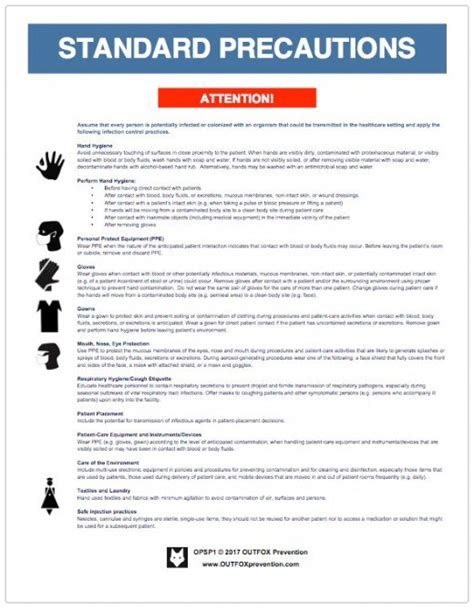 recommendations and universal precautions for the prevention of cdc standard precautions posters hubpages