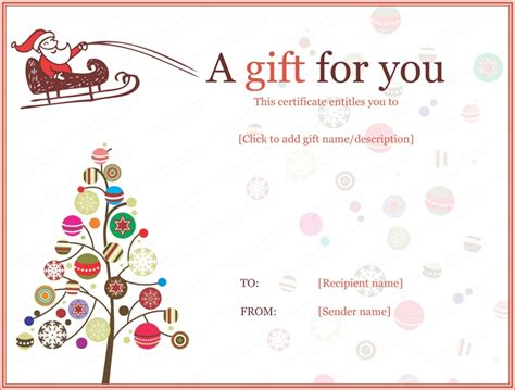 printable gift certificate from santa free printable santa certificate template invitation