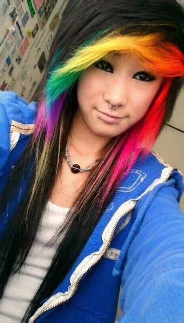 cute hairstyles rainbow rainbow hair color strayhair