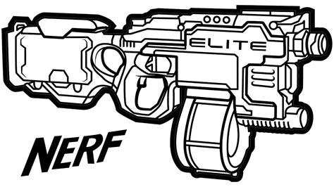 nerf gun coloring pages pictures to pin on pinterest