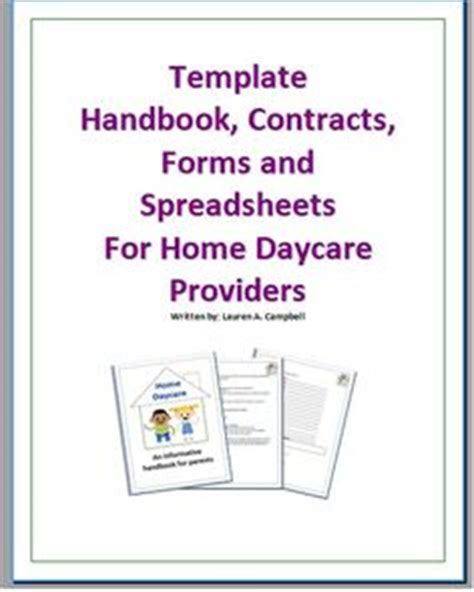 template handbook contract forms and spreadsheets by