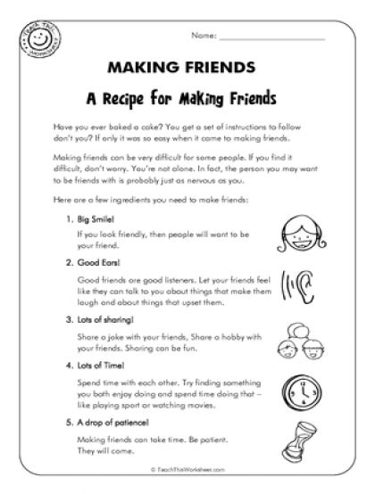 Friendship Worksheets by Teach This Worksheets Create And Customise Your Own