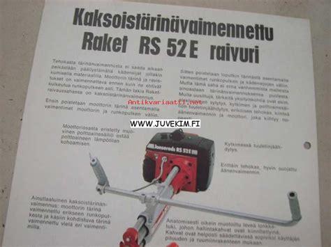 Raket Rs raket jonsereds rs 52e raivaussaha myyntiesite oy