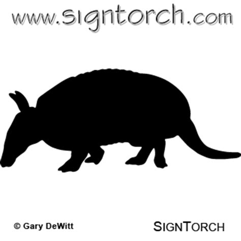 armadillo  signtorch turning images  vector cut paths
