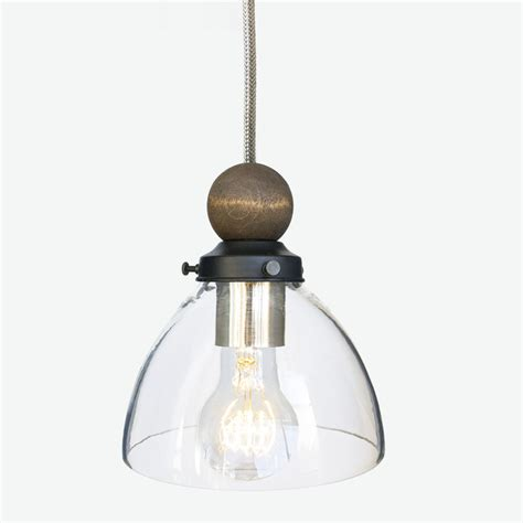 Stainless Steel Pendant Light Handblown Glass And Wood Stainless Steel Cord Pendant Light Modern Pendant Lighting By