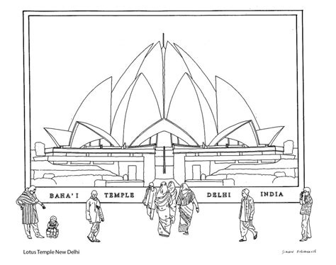 lines on lotus temple drawing of lotus temple www pixshark images
