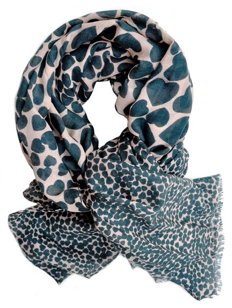 becks 246 ndergaard print wool silk scarf