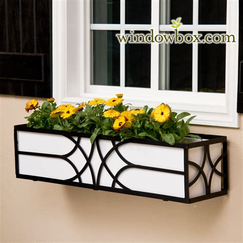 Metal Window Planter by The Falling Water Window Box Cage Square Design