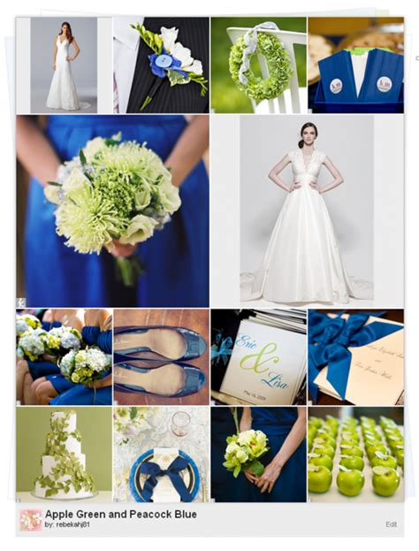 royal color scheme royal blue ivory and green weddingbee