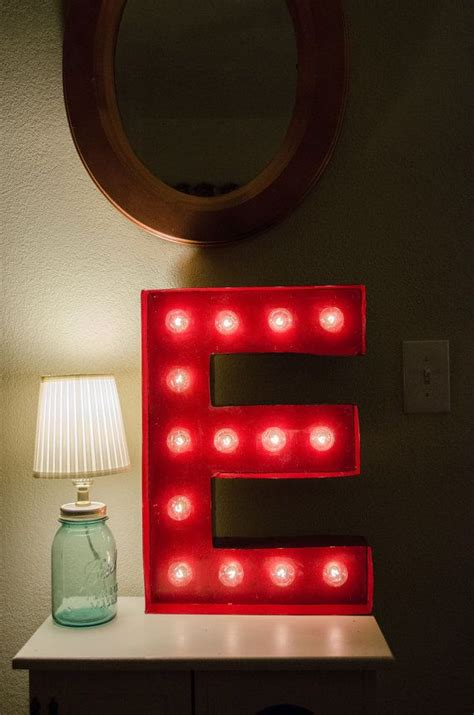letter marquee wall light vintage inspired marquee light letter e home decor