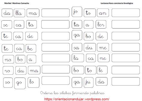 las silabas en espanol para ninos fichas de ejercicios con s 237 labas para ni 241 os pedagog 237 a