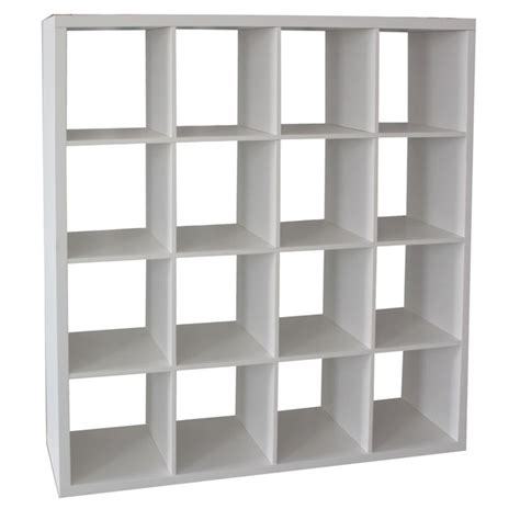 cube storage unit clever cube 4 x 4 white storage unit bunnings warehouse