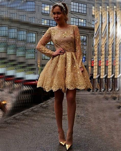 Uwais Amora Dress Gold 1 gold sequins appliques lace prom dresses 2016