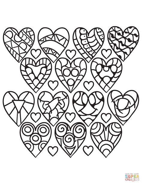 complex heart coloring page emejing heart coloring pages print ideas coloring 2018