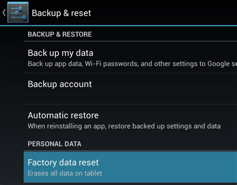 android factory reset how to factory reset your android phone or tablet when it won t boot