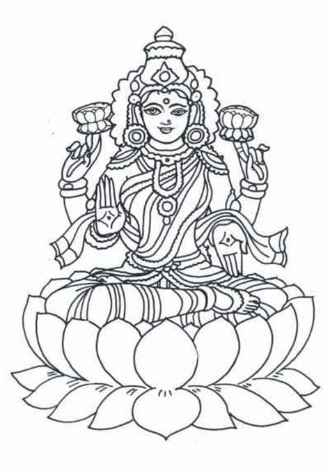 diwali coloring pages maa lakshmi coloring pages goddess