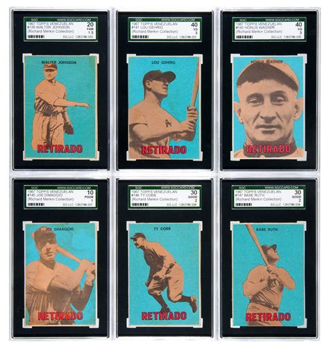 Gift Card Auction - more foreign vintage baseball cards part of auction
