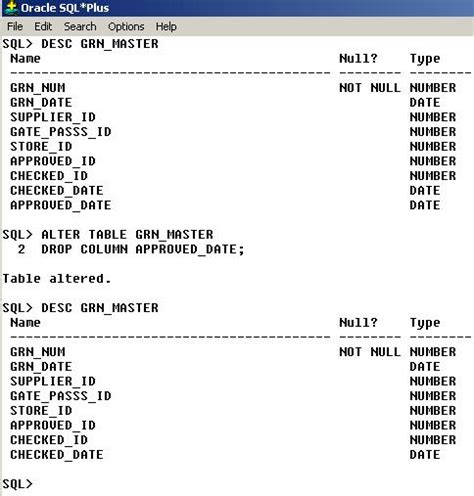 alter table change column oracle how to add column in